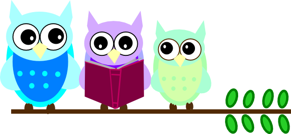 owl family reading clip art at clker com vector clip art online rh clker com  owl reading book clipart