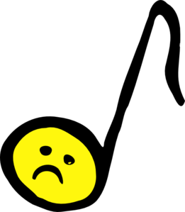 Unhappy Eighth Note Clip Art