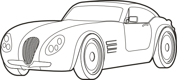 Sports car outline png 10