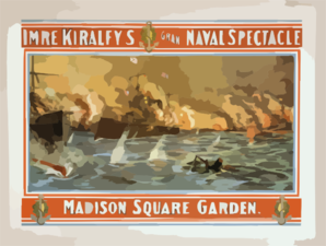 Imre Kiralfy S Grand Naval Spectacle Clip Art