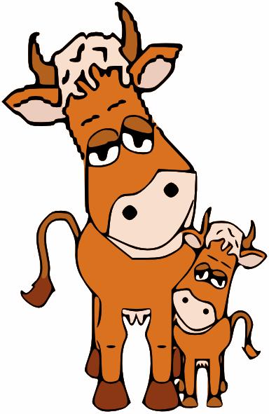 Cow And Calf Clip Art at Clker.com - vector clip art ...