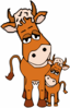 Cow And Calf Clip Art