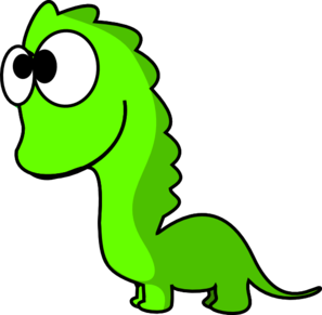 Green Dinosaur Cartoon Clip Art