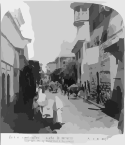In A Street Called Straight, Damascus, Syria (acts Ix: Ii) Clip Art