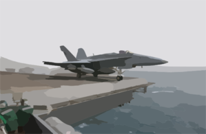 An F/a-18c Hornet Launches From One Of Four Steam-powered Catapults Aboard The Aircraft Carrier Uss Kitty Hawk (cv 63) Clip Art