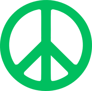 Turq Green Peace Sign Clip Art
