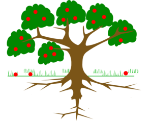 Tree-three Roots Clip Art