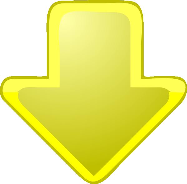 Yellow-down-arrow Clip Art at Clker.com - vector clip art ...