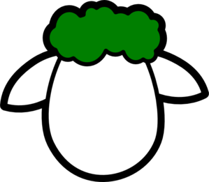 Green Counter Sheep Clip Art