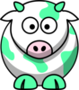 Mint Green Cow Clip Art