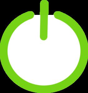 Green Power Button Clip Art at Clker com - vector clip art online