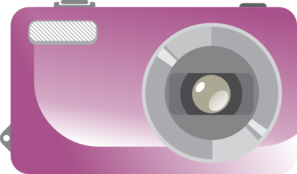 Purple Digital Camera Clip Art