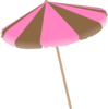 Pink And Brown Umbrella Clip Art