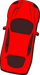 Red Car - Top View - 80 Clip Art