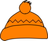 Orange Winter Hat Clip Art
