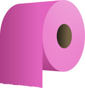 Pink Toilet Paper Roll Clip Art