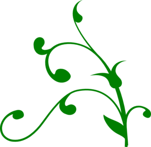 Green Twisted Vine Clip Art