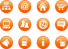 Icons Orange Web Candy Clip Art