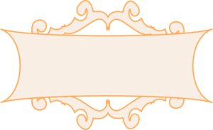 Orange Frame Thin Clip Art