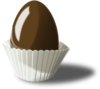 Chocolate Easter Egg Clip Art