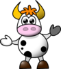 Cow No Spots Clip Art