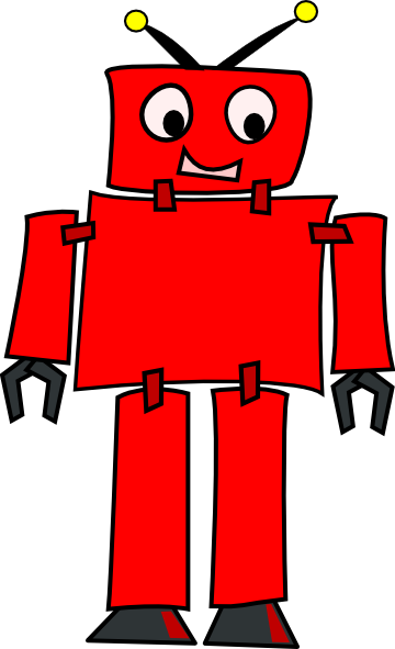 Red Robot Clip Art at Clker.com - vector clip art online, royalty free ...