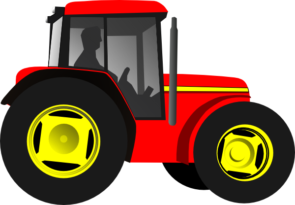 Red Tractor Clip Art at Clker.com - vector clip art online, royalty ...
