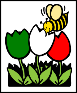 Italian Flowers Bee Clip Art