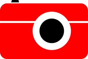 Camera Red Black Clip Art