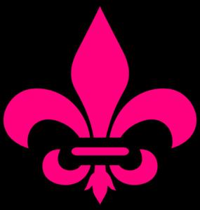 pink fleur de lis clip art at clker com vector clip art online rh clker com