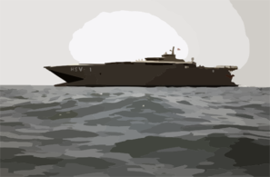 Joint Venture (hsx-v1) Prepares To Receive A Small Boat From The Guided Missile Destroyer Uss Mitscher (ddg 57) During Underway Operations Clip Art