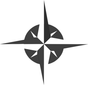 White Compass Rose Clip Art Compass Rose Clipart Black And White