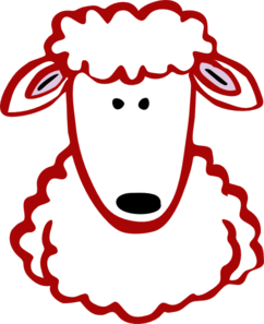 Red Lamb Clip Art