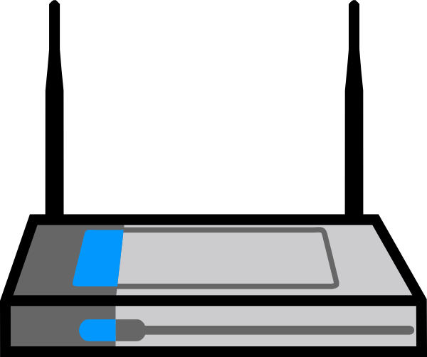 Wireless Router Clip Art at Clker.com - vector clip art ...