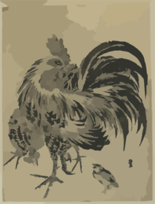 Hen And Chick. Clip Art