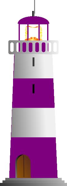 purple and white lighthouse clip art at clker com vector clip art rh clker com Public-Domain Lighthouse Clip Art Lighthouse Clip Art Color Prints