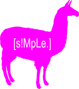 [s!mple.] Logo Neon Pink Clip Art