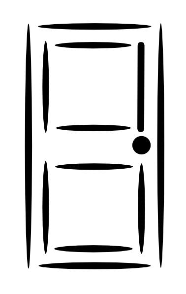 Screen Door Clip Art : White door clip art at clker vector online