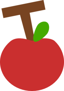 T Apple Red Clip Art