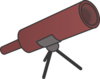 Simple Braun Cartoony Telescope Clip Art