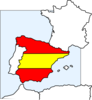 Spain Map And Flag Clip Art