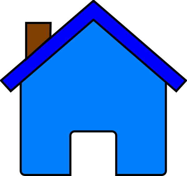 clip art blue house - photo #4