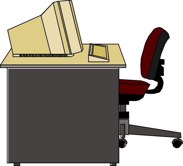Computer Desk Clip Art At Vector Clip Art