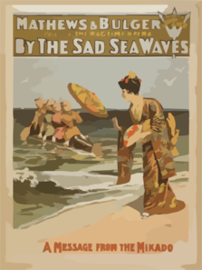 Mathews & Bulger Presenting Rag Time Opera, By The Sad Sea Waves Clip Art