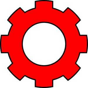 Red Gear 2 Clip Art