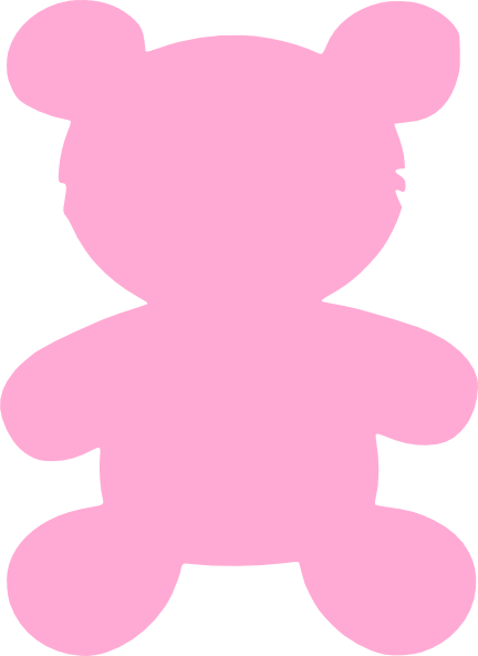Baby Pink Bear Clip Art At Clker Com Vector Clip Art