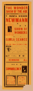 The Mental Wizard, Newmann Th Man Who Knows And His Deluxe Show Of Wonders : Featuring The World Famous Simla Seance. Clip Art