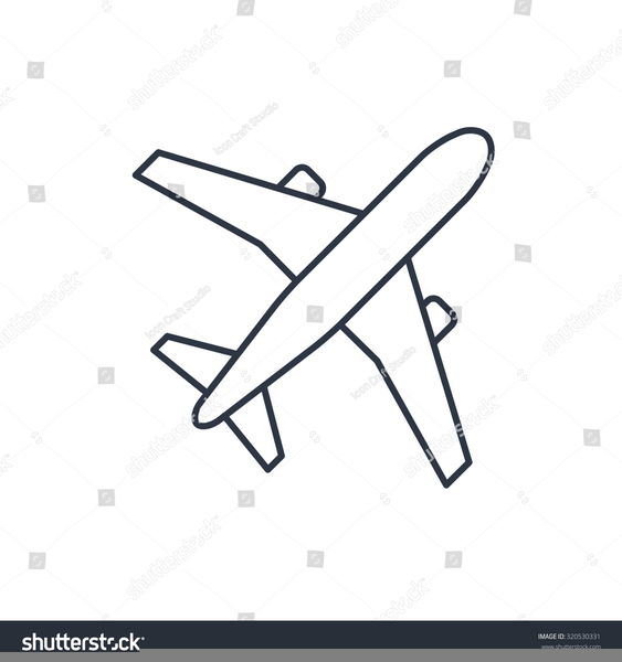 Simple Aeroplane Outline Free Images At Clker Com Vector Clip
