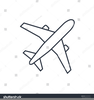 Simple Aeroplane Outline Image