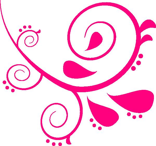 Pink Left Swirl Clip Art at Clker.com - vector clip art online ...